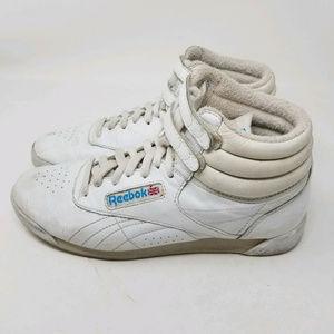 fce570472bef5 Reebok Shoes - Reebok Classic High Top Freestyle Vintage Retro